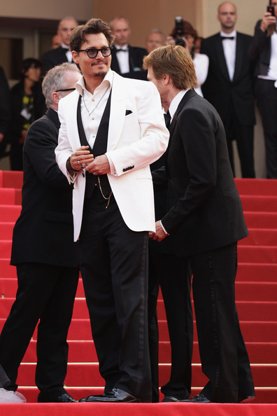 Johnny Depp at the 2011 Cannes Film Festival on exshoesme.com.