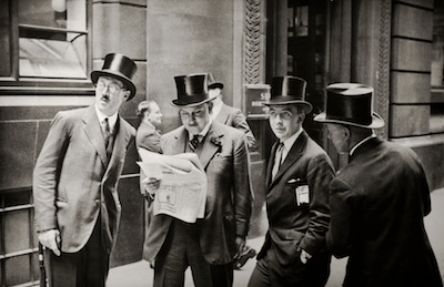 Rendez-vous at the London Stock Exchange, 1937 by E. O. Hoppé on exshoesme.com.