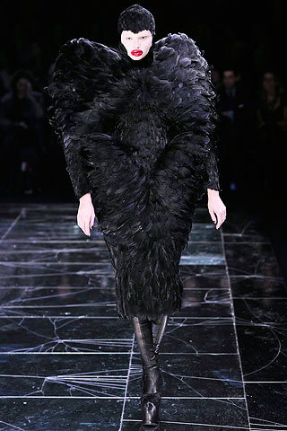 Alexander McQueen Feather Wing Dress FW09 on exshoesme.com