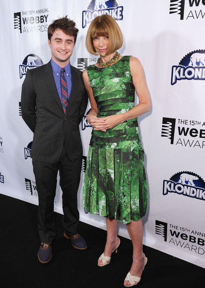 Anna Wintour and Daniel Radcliffe at the Webby Awards Cocktails on exshoesme.com