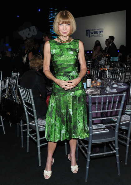 Anna Wintour at the Webby Awards Cocktails on exshoesme.com
