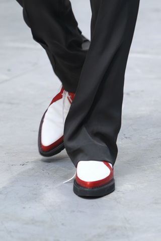 Costume National Menswear Red White and Black Shoes for SS12 on exshoesme.com