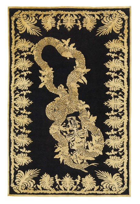 Alexander McQueen Military Brocade Rug for The Rug Company on exshoesme.com
