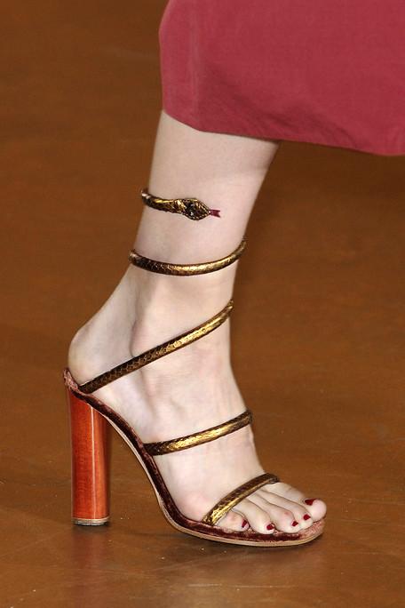 Marc Jacobs SS11 Bronze Snake Sandals on exshoesme.com