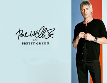 Paul Weller for Pretty Green announcement on exshoesme.com