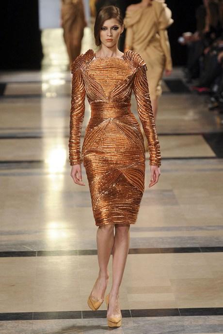 Stephane Rolland Spring 2011 Haute Couture Copper Dress on exshoesme.com