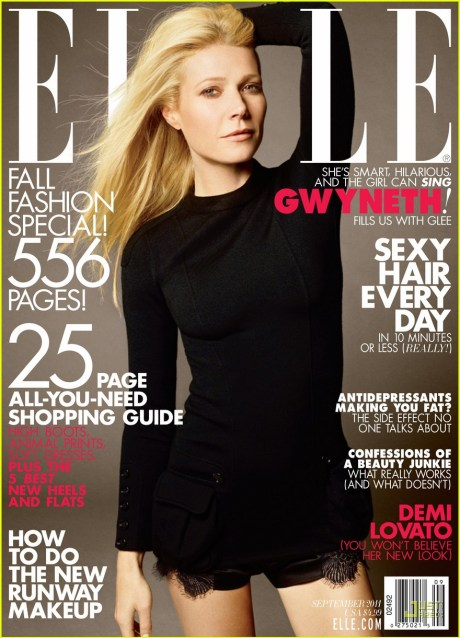 Elle US September 2011 Gwyneth Paltrow Cover 1 on exshoesme.com