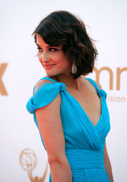 2. Cobie Smulders in Alberta Ferretti Detail at the 2011 Emmy Awards on Exshoesme.com Photo by Frazer Harrison Getty