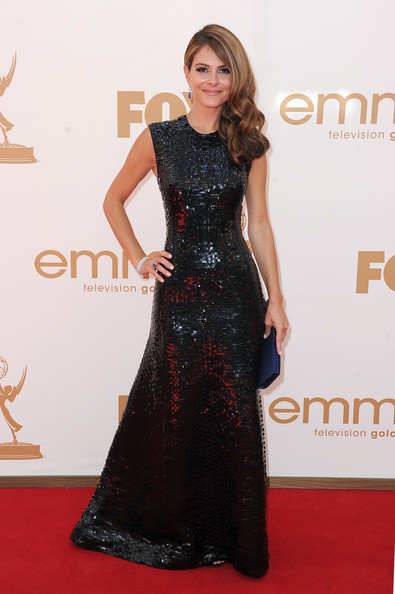 Maria Menounos in Ungaro at the 2011 Emmy Awards on Exshoesme.com