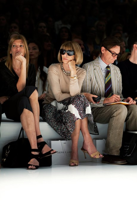 Anna Wintour at Derek Lam by Scott Schuman on exshoesme.com