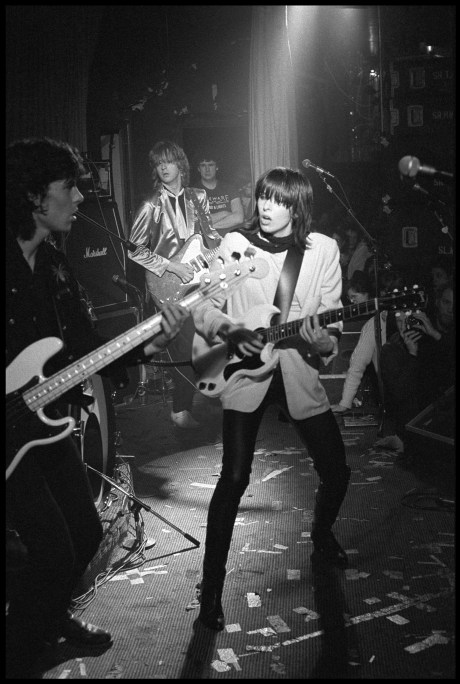 The Pretenders performing at the Nashville Rooms, London on March 9 1979 on exshoesme.com