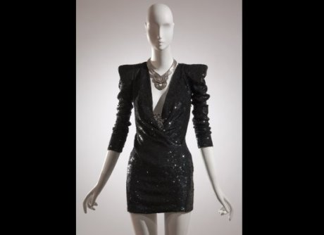 Daphne Guinness FIT Exhibit Preview Balmain Dress on Exshoesme.com