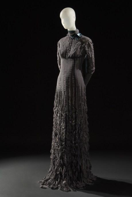 Daphne Guinness FIT Exhibit Preview Gareth Pugh Dress on Exshoesme.com.
