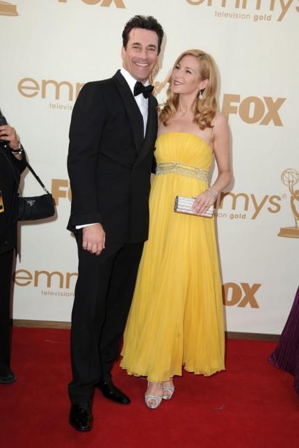 Jon Hamm and Jennifer Westfeldt at the 2011 Emmy Awards on exshoesme.com. Photo by Steve Granitz WireImage