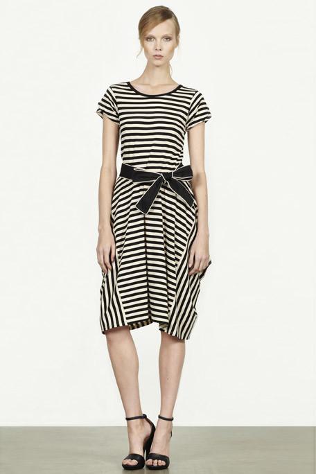 DKNY PF11 Black and White Stripes on Exshoesme.com