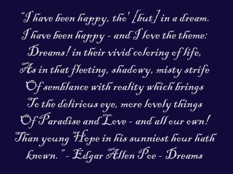 Dreams by Edgar Allen Poe Quote on Exshoesme.com