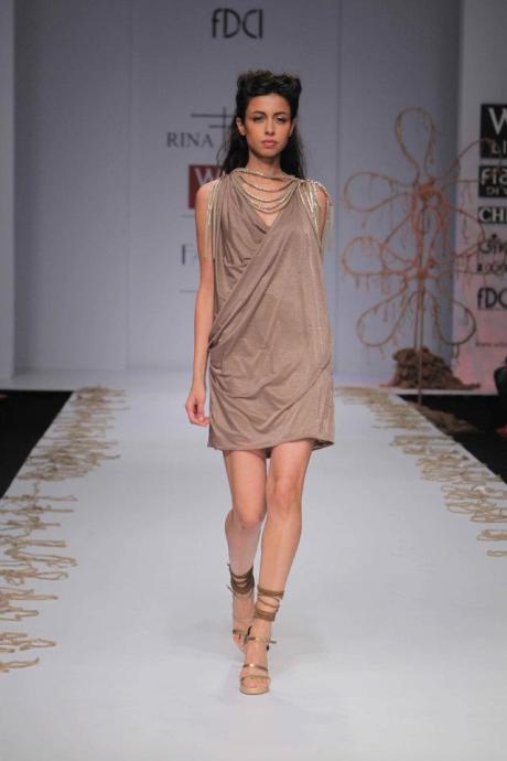 Rina Dhaka SS12 Draped Dress on Exshoesme.com
