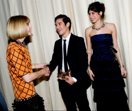 Anna Wintour with Joseph Altuzarra and Pamela Love - CFDA Fund Winners on Exshoesme.com