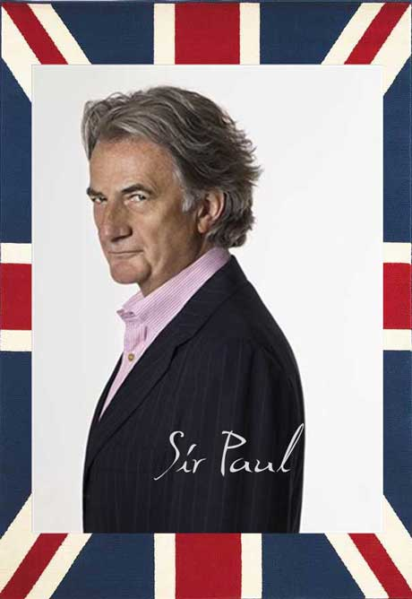 Sir Paul Smith, winner of the Outstanding Achievement Award at the 2011 British Fashion Awards. Collage by Jyotika Malhotra on Exshoesme.com