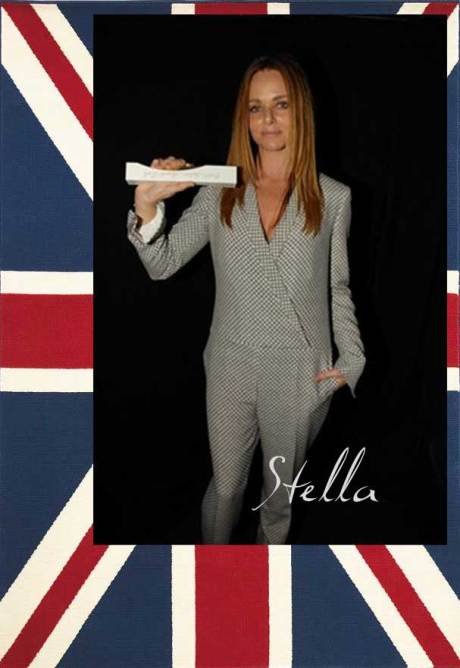 Stella McCartney, winner of the Red Carpet Award at the 2011 British Fashion Awards. Collage by Jyotika Malhotra on Exshoesme.com