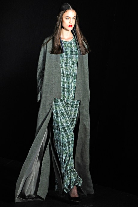 Theyskens Theory FW11 Flat Lapel Coat on Exshoesme.com
