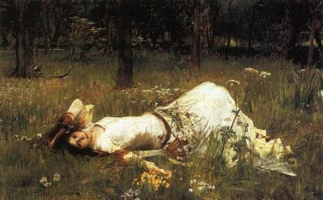 Ophelia by John William Waterhouse, 1889 on Exshoesme.com