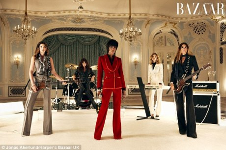 Supermodel Singers in Duran Duran's Girl Panic in UK Harper's Bazaar December 2011 by Jonas Akerlund