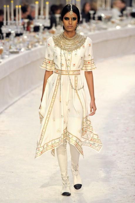 Chanel Métiers d'Art PF12 Paris-Bombay Collection Printed Handkerchief Hem Dress on Exshoesme.com