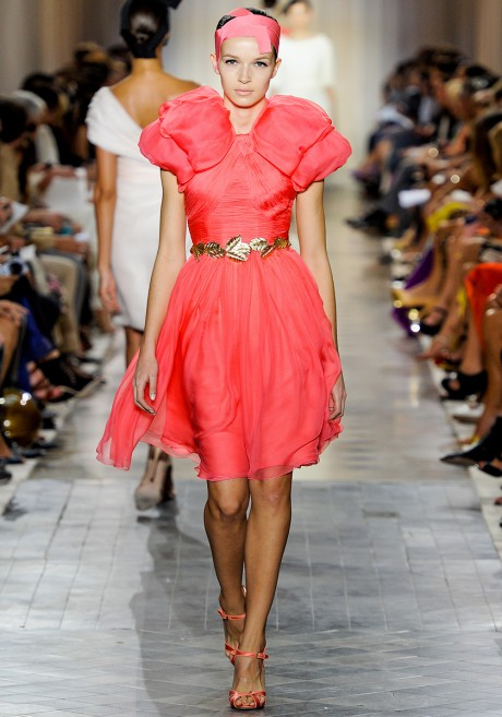 Giambattista Valli FW11 Couture Coral Cocktail Dress on Exshoesme.com