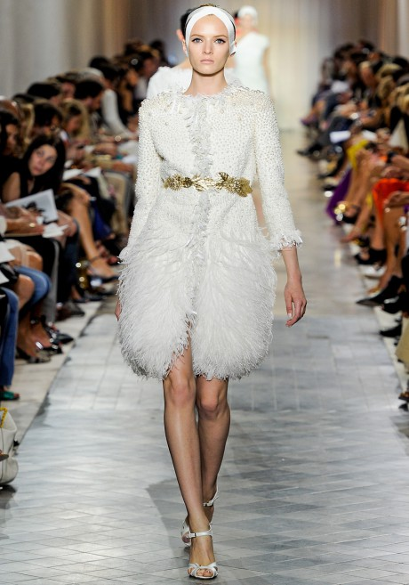 Giambattista Valli FW11 Couture White Evening Coat on Exshoesme.com