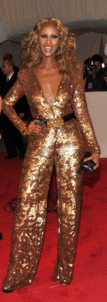 Iman in Stella McCartney at the Met Ball 2011 on Exshoesme.com
