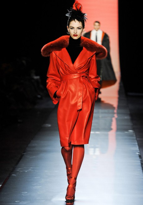 Jean-Paul-Gaultier-FW11-Couture-Fur-Trimmed-Red-Leather-Coat-on-Exshoesme.com