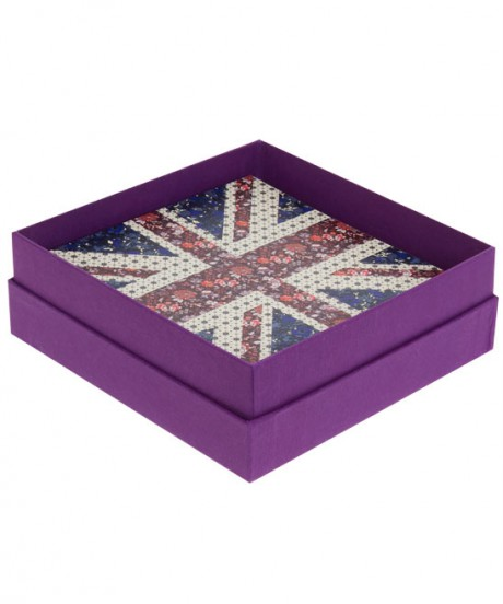 Liberty Print Union Jack Notecards inside box on Exshoesme.com