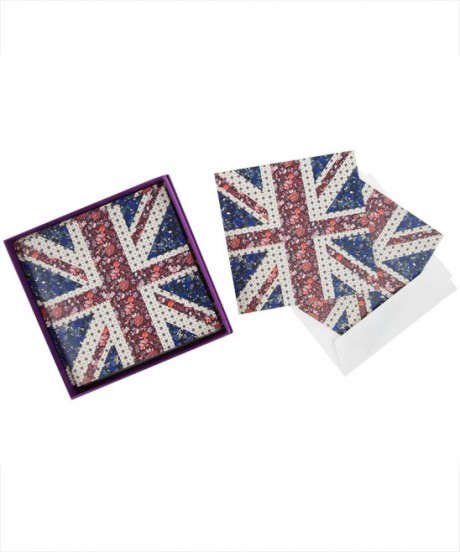 Liberty Print Union Jack Notecards on Exshoesme.com