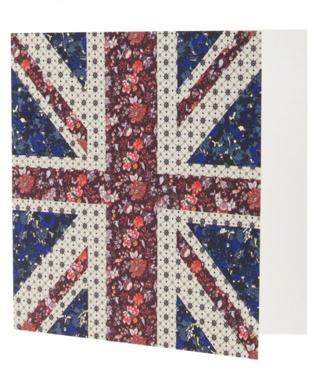 Liberty Printed Union Jack Notecards on Exshoesme.com