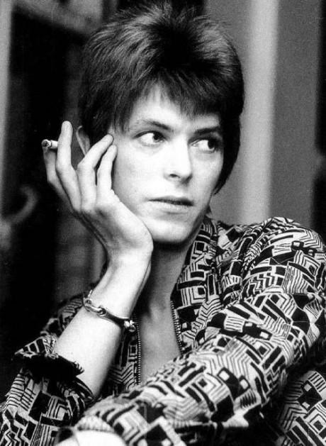 A patterned David Bowie on Exshoesme.com