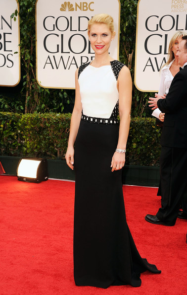 Claire Danes in J Mendel at the 2012 Golden Globe Awards on Exshoesme.com
