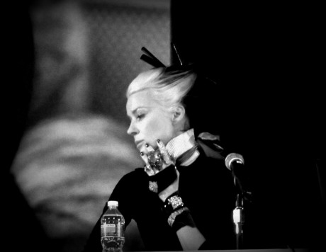 Daphne Guinness at the FIT Symposium photographed by Jyotika Malhotra of Exshoesme.com November 2011