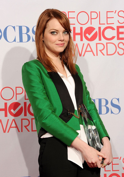 Emma Stone in Gucci Detail Photo by Jason Merritt Getty Images North America on Exshoesme.com