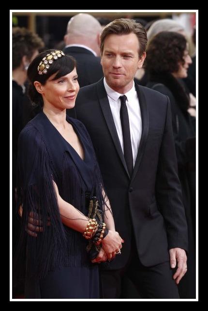 Ewan McGregor with wife Eve Mavrakis in multiple bracelets at the 2012 Golden Globe Awards on Exshoesme.com