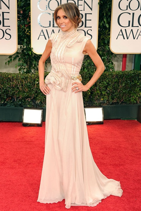 Giuliana Rancic in Basil Soda at the 2012 Golden Globe Awards on Exshoesme.com