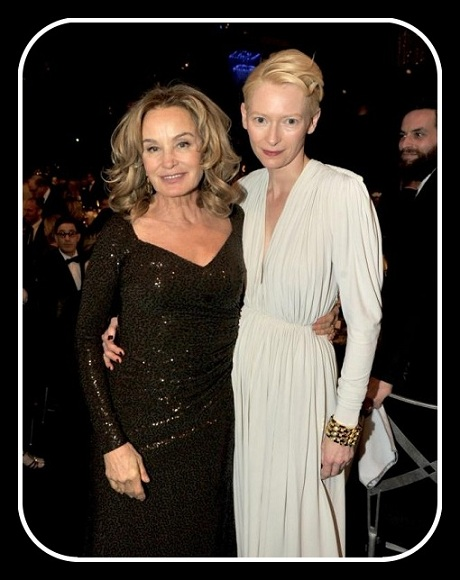 Jessica Lange with Tilda Swinton at the 2012 SAG Awards on Exshoesme.com