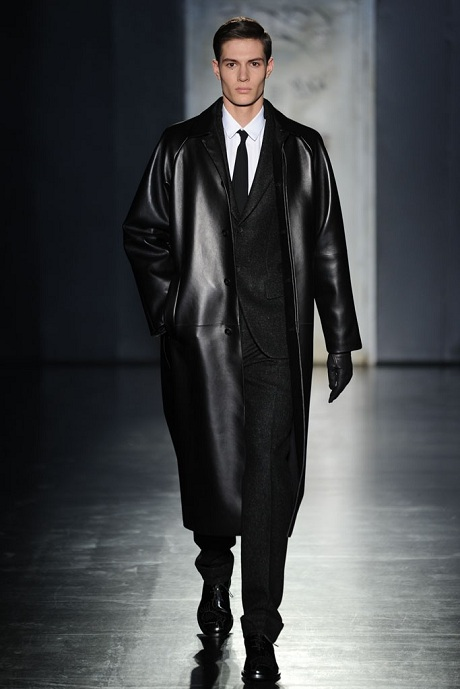 Jil Sander FW12 Menswear Leather Overcoat and Wool Suit on Exshoesme.com