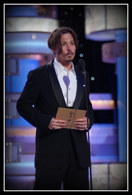 Johnny Depp Deja Vu at the 2008 Golden Globe Awards on Exshoesme.com