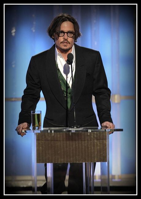 Johnny Depp at the 2012 Golden Globe Awards on Exshoesme.com