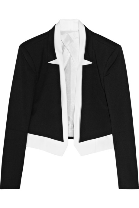 Karl Lagerfeld for Net-a-Porter black and white bolero on Exshoesme.com
