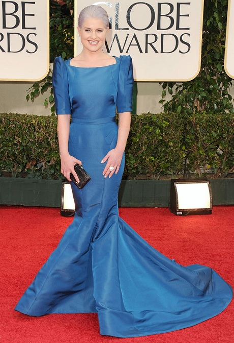 Kelly Osbourne in Zac Posen at the 2012 Golden Globe Awards on Exshoesme.com