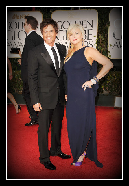 Rob Lowe with his wife at the 2012 Golden Globe Awards on Exshoesme.com