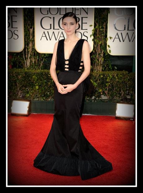 Rooney Mara in Nina Ricci at the 2012 Golden Globe Awards on Exshoesme.com