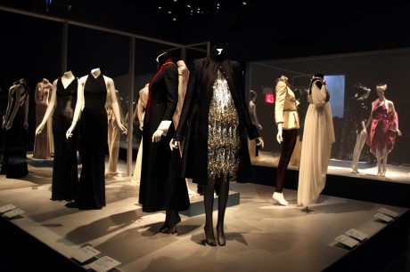 The Evening Chic display at the Daphne Guinness Exhibit at the Museum at FIT on Exshoesme.com